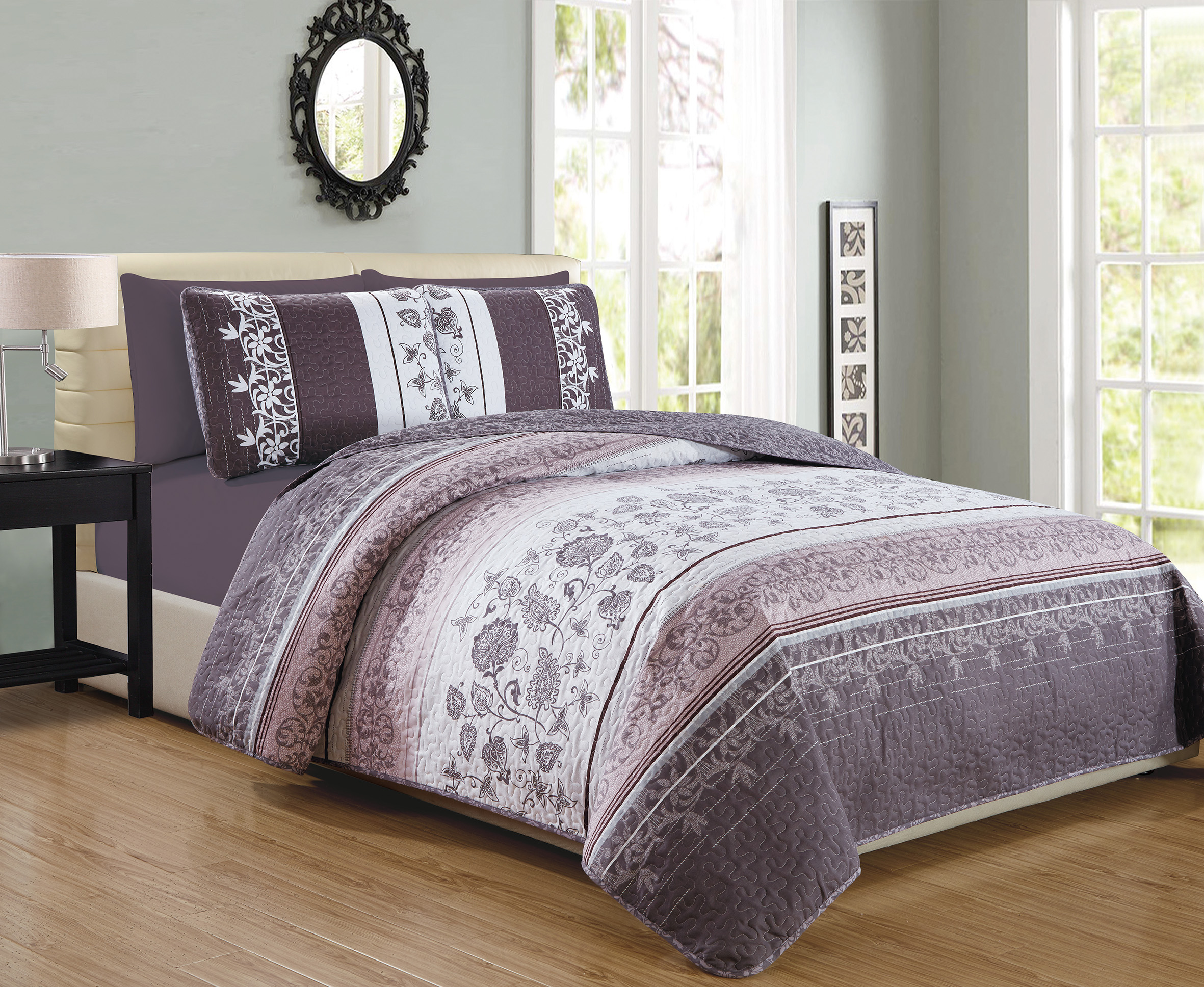 walmart bed bag com mainstays kids butterfly a ip in quilt coordinated purple set