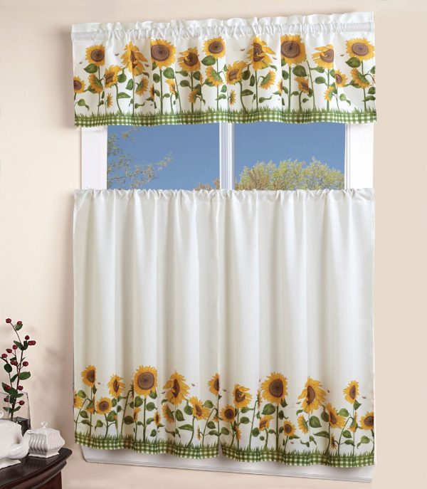 Elegant 3 Piece Kitchen Curtain Set In Different Varieties