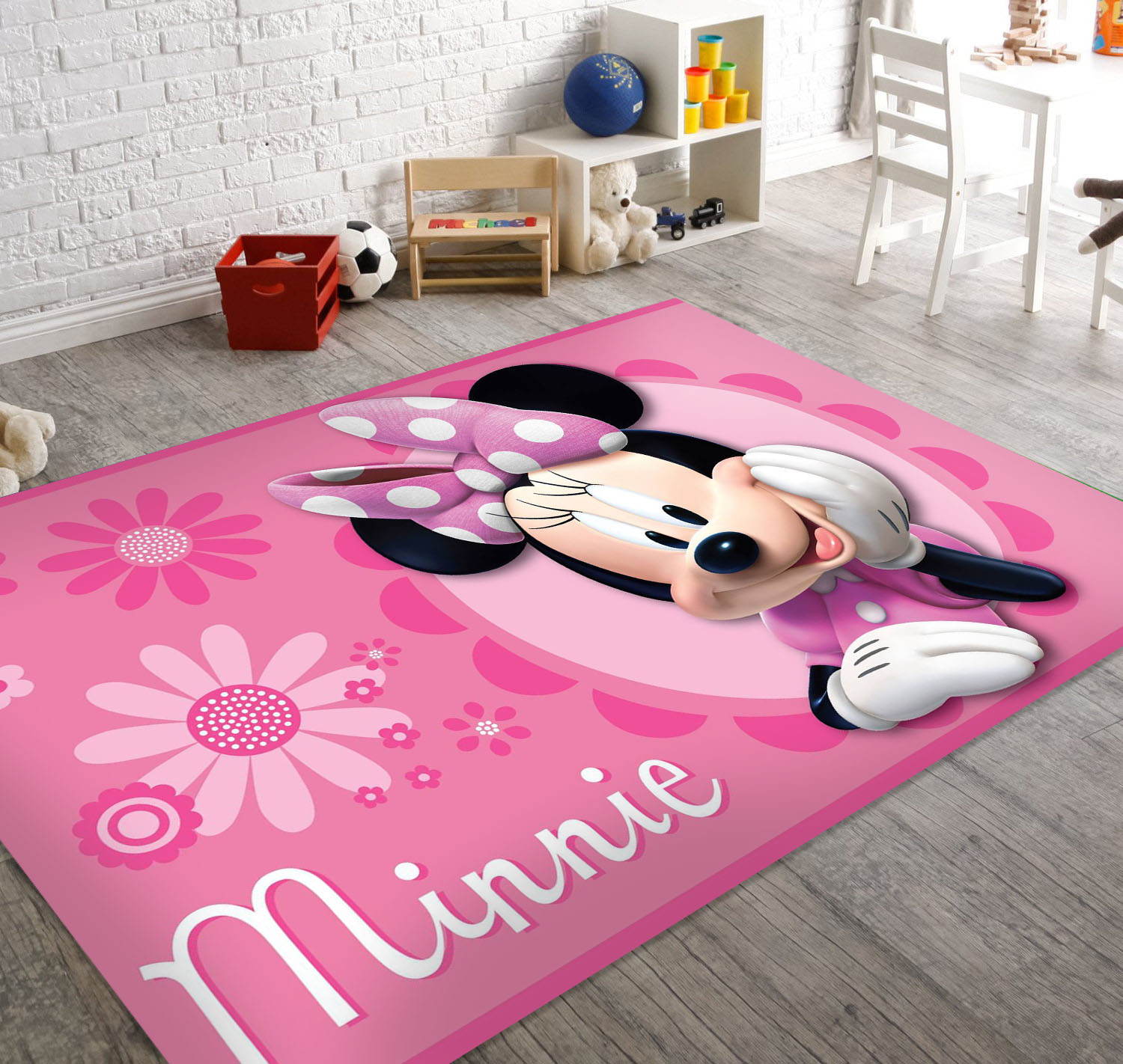 Soft And Non Slip Back Disney Marvel Area Rugs Minnie